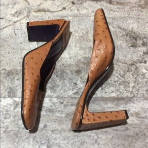 Hype Faux Alligator High Heeled Mules